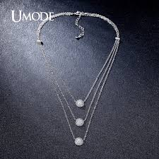 white rose necklace images Umode new 4 designs multi layered necklaces gold white rose jpg