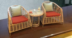 Wicker Style Outdoor Furniture by Natural Rattan Style Outdoor Wicker Coffee Set Natural Rattan