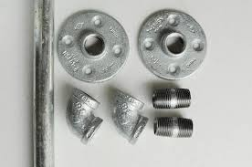 diy curtain rods from galvanized pipe the home depot
