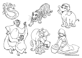 jungle book characters coloring pages getcoloringpages com