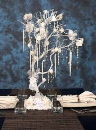 Christmas Tree Centerpieces Wedding by White Silver Manzanita Tree Wedding Centerpiece White Wedding
