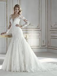 pratima mermaid wedding dress with v neck and long sleeves
