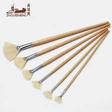 fan brush oil painting zhouxinxing oil painting brush 6pcs set pig bristles fan shap