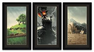 new lord of the rings prints track gandalf s journey through