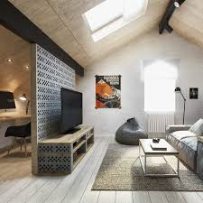 awesome interior living room wiith wooden floor and white concrete