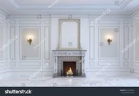 classic interior light tones marble floor stock illustration