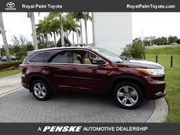 toyota limited 2016 used toyota highlander fwd 4dr v6 limited at royal palm