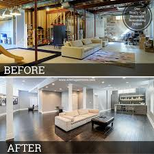 basement renos before and after rooms