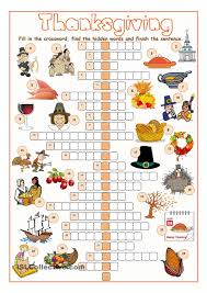 thanksgiving crossword puzzle pinteres