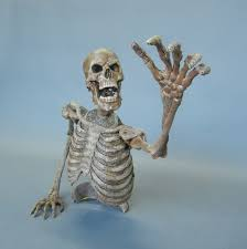 Halloween Skeleton Prop by Bushwacker Animated Halloween Prop Animated Skeleton Haunted