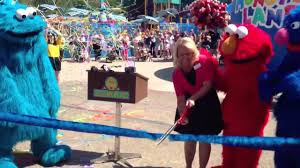 sesame ribbon sesame place land ribbon cutting