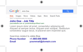 shonari u2013 google style business card