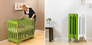 Folding Mini Crib City Living Smart Furniture For Your Small Space Place In The City