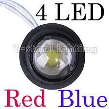 led strobe lights for motorcycles 12v car auto truck motorcycle red blue flash warning 4 led strobe