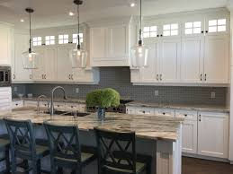What Is A Backsplash In Kitchen Kitchen Gorgeous White Shaker Kitchen With Fantasy Brown Granite