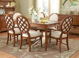 kincaid alston solid wood oval leg table dining room set with