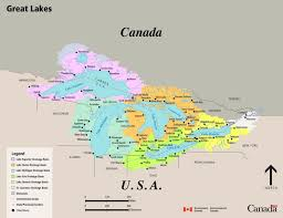 canadian map with great lakes great lakes drainage basin map canada ca