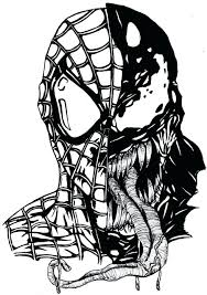 spiderman face coloring page coloring page