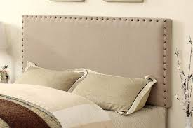 king upholstered headboard with nailhead trim bedroom trendy diy tufted headboard with nailhead trim diy