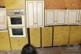harvest gold kitchen cabinets vintage st charles retro renovation