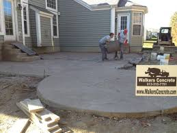 Stamped Concrete Backyard Ideas Walkers Concrete Llc Stamped Concrete Patio Start To Finish Your