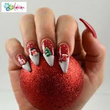 christmas stiletto nails 3d christmas 3d stiletto nails by ambima