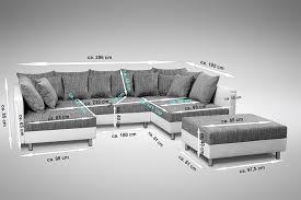 wohnlandschaft 900 sofa couch ecksofa eckcouch in weiss hellgrau eckcouch mit