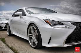 lexus vossen wheels white lexus rcf on vossen wheels has the look of a cult car