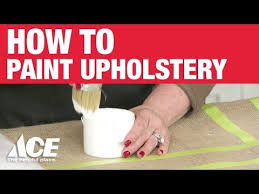 How To Remove Paint From Upholstery How To Paint Upholstery Ace Hardware Youtube