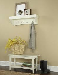 alcott hill bel air piece hall tree coat hook and bench set