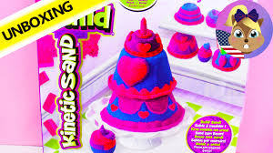 kinetic sand videos how to make cupcakes and cakes out of