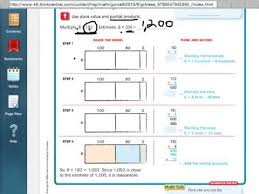go math 2 7 multiply using partial products go math pinterest