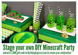 minecraft party stage your own diy minecraft party and win a 100 gift code to