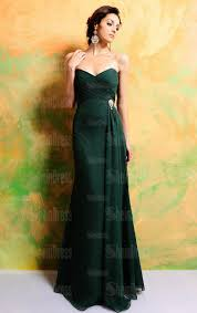 an elegant collection of dark emerald green bridesmaid dresses