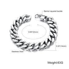 pandora link bracelet images Opk jewelry heavy metal cuban curb link chain men 39 s jpg