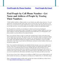 Find Peoples Address By Their Name Find By Cell Phone Number Get Name And Address Of By