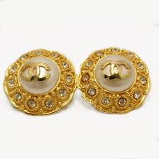 cc earrings chanel gold cc earrings keeks buy sell designer handbags