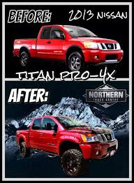 nissan truck titan red before u0026 after custom trucks