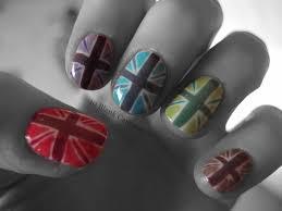 British Flag Nails Union Jack Inspired Nail Art 10 Blank Canvases