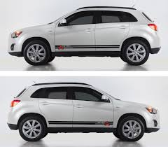 mitsubishi sticker ssk022 mitsubishi asx outlander sport car stripes kit sticker