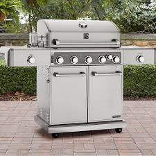Backyard Grill 5 Burner by Kenmore Elite 5 Burner Gas Grill Stainless Steel