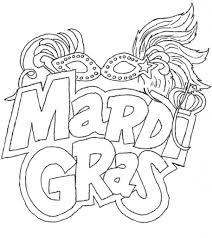 mardi gras coloring pages contegri com