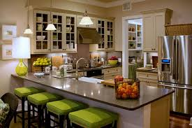 Farmhouse Plan Ideas by Delightful Farmhouse Kitchen With L Shape White Kitchen Cabinet