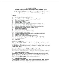 church annual business meeting minutes template templates