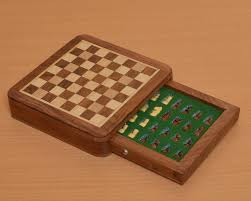 buy travel magnetic wooden chess set online size 5