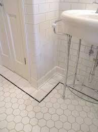 interesting ideas vintage bathroom floor tile retro black white
