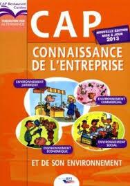 livre cap cuisine connaissance de l entreprise et de environnement cap
