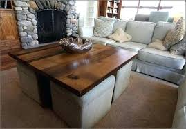 Coffee Table With Ottoman Seating Coffee Table With Seating Underneath Coffee Table With Seating
