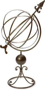 wrought iron garden sphere antique finish