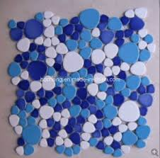 Pool Bathroom China Blue Ceramic Mosaic Tile For Swimming Pool Bathroom China